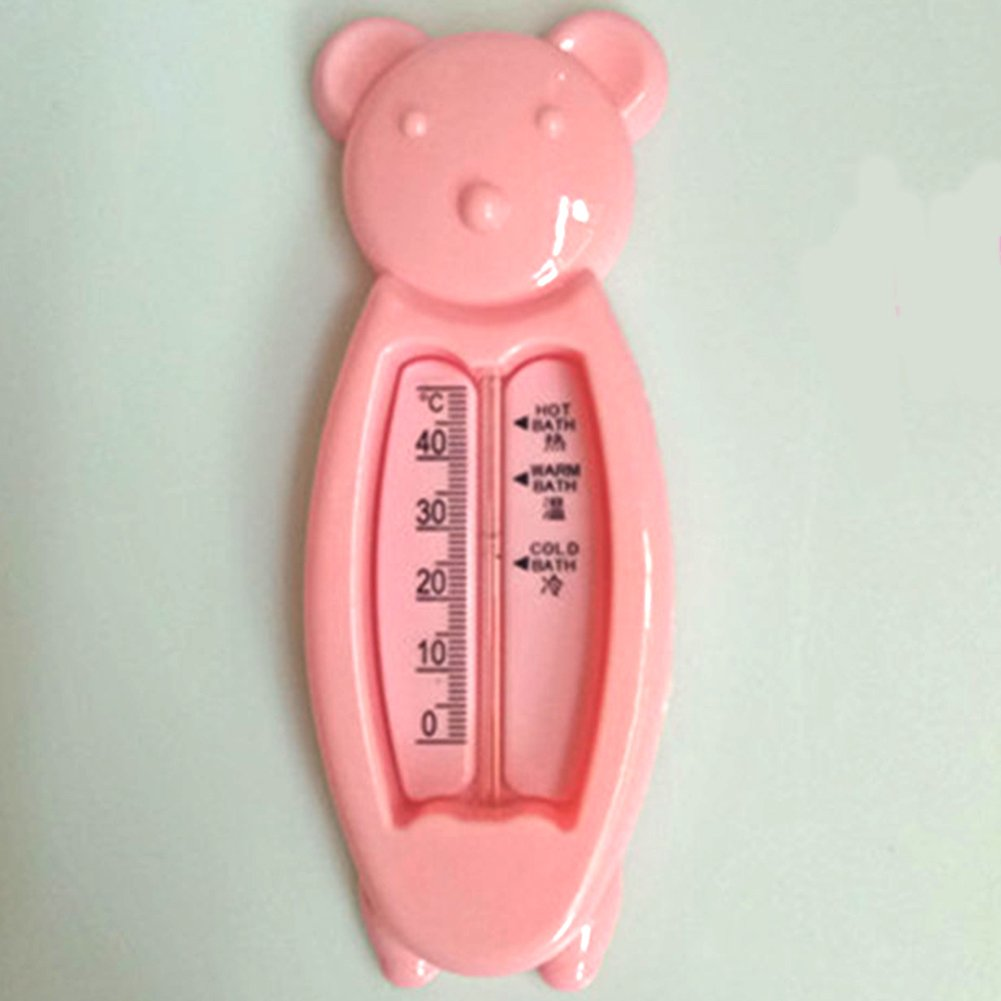 PAUL88 Children Thermometer Beautiful Floating Bear Shape Baby Water Thermometer Float Baby Bath Toys Bath Water Sensor Thermometer(Pink)