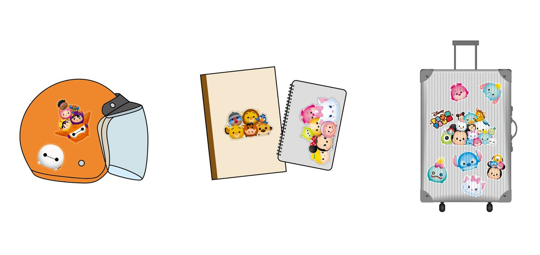Disney Tsum Tsum Waterproof Luggage Decoration Stickers 20 pcs Multiple Characters