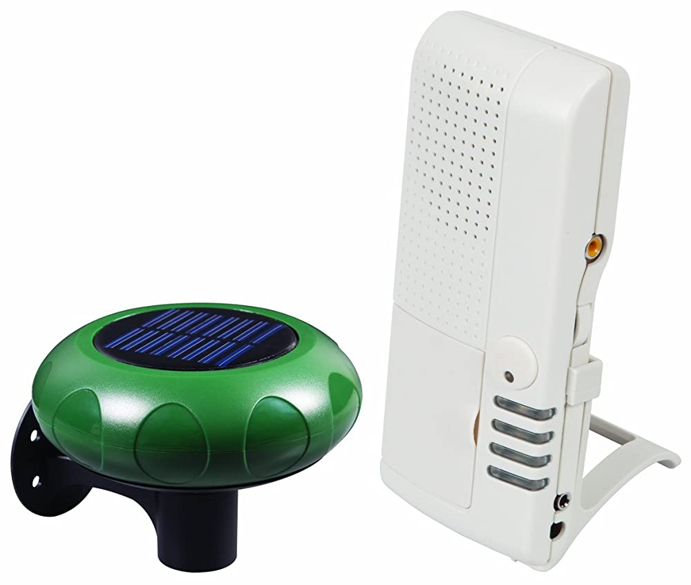 2. Safety Technology International, Inc.STI-V34100 Wireless Solar Powered Driveway Monitor with Voice Receiver