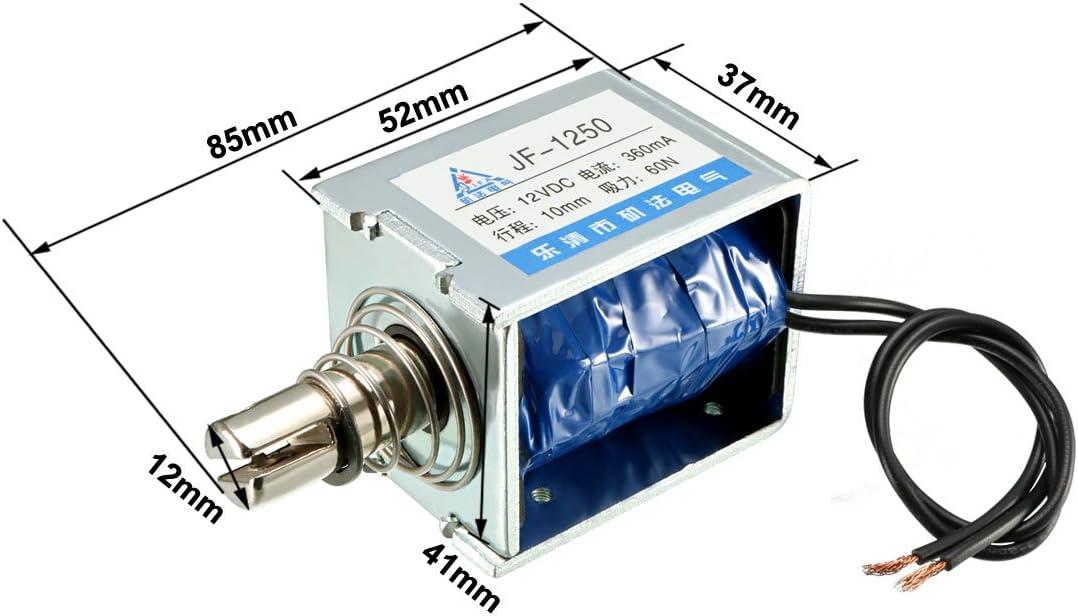 2,5 kg sourcing map 400mA 45n 10mm Ziehen Druck Typ Offen Rahmen Linear Motion Solenoid Elektromagnet Gleichstrom 12 V 10 mm