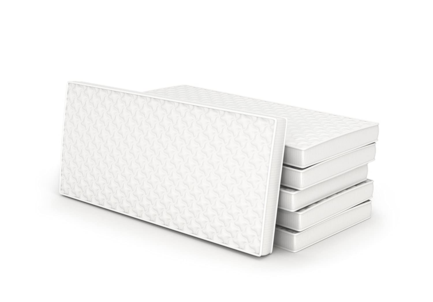 Superior Quilted Cot Mattress 140 x 70 - 10cm - UK Made with High Grade Density Foam | by WKDS C2S
