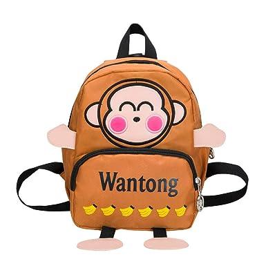 275b7e2bf52 Baby Boys Girls Kids Small Toddler Cute Playful Cartoon Monkey Cartoon  Pattern Letter Backpack Toddler School