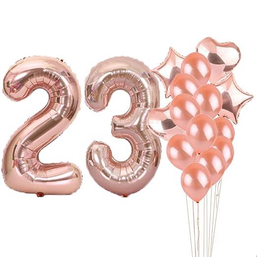 23th cumpleaños decoraciones suministros de fiesta, 23th ...