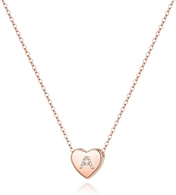 Adoption Necklace Mother/'s Necklace Simple Initial Necklace Rose Gold Initial Sterling Silver Heart Gold Fill Disc Gift For Her