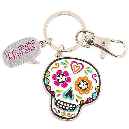 Wit! Enamel Key Ring Keychain (Skull)