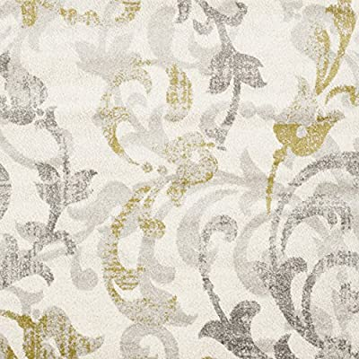Safavieh Amherst Collection AMT428E Ivory and Light Grey Indoor/ Outdoor Area Rug