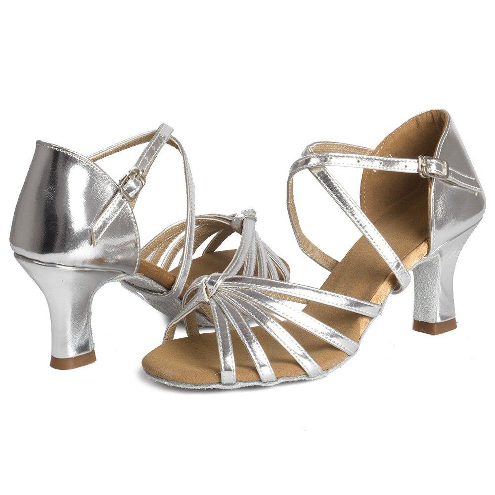HIPPOSEUS Zapatos de Baile Latino para el sal/ón de Baile con Purpurina y Salsa para Mujer Zapatos de Baile Modelo CYL028