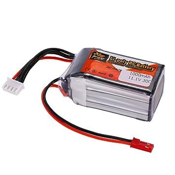 Goolsky Batería del LiPo de la energía 3S 11.1V 1000mAh 30C JST de ZOP para