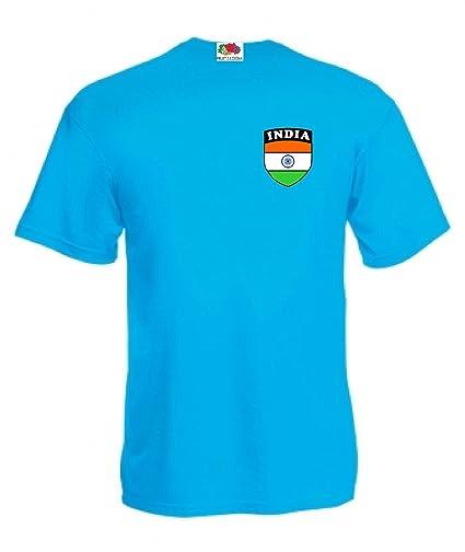 Camiseta Azul Cielo Seguidores Cr?quet India Copa Mundia 2015 Todos Tama?os