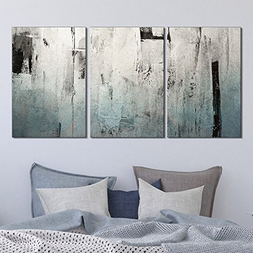 3 Panel Abstract Grunge Color Compositon x 3 Panels …