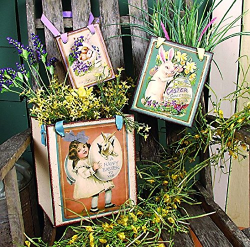 Vintage Nesting Easter Bags Set of 3 Chick Bunny Egg Deco...