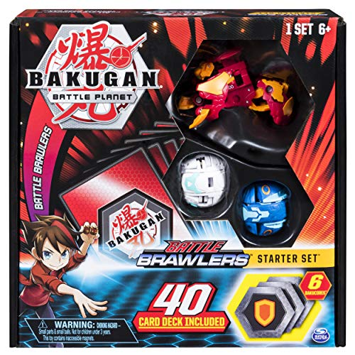 Character Pack Bakugan - Bakugan, Battle Brawlers Starter Set with Transforming Creatures, Pyrus Hydorous, for Ages 6 & Up