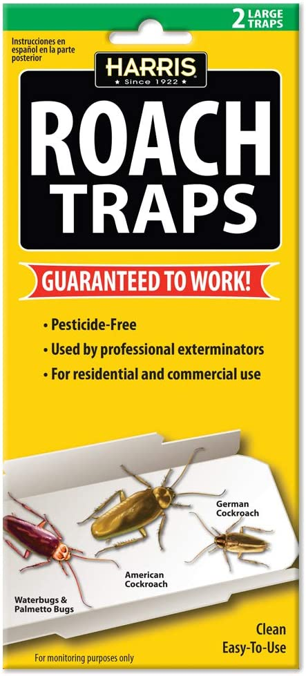 Harris Roach Glue Traps, Non Toxic and Pesticide Free (2-Pack)
