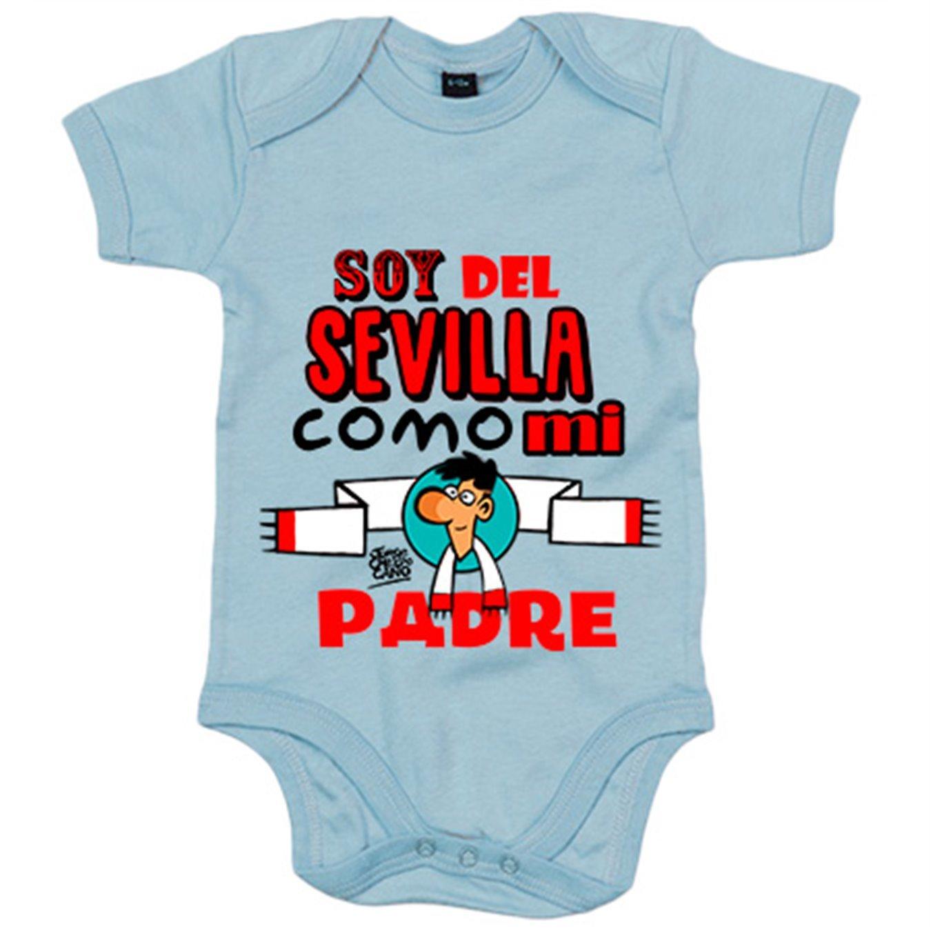 Body bebé soy del Sevilla como mi padre Jorge Crespo Cano - Blanco, 6-12 meses: Amazon.es: Bebé