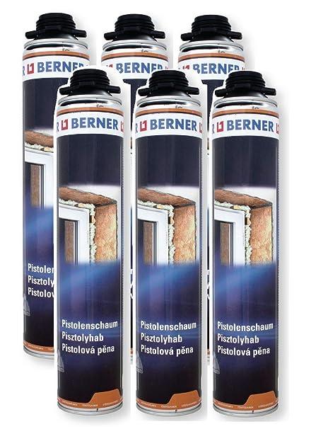Berner 1-K - Espuma para pistola de poliuretano (6 unidades ...