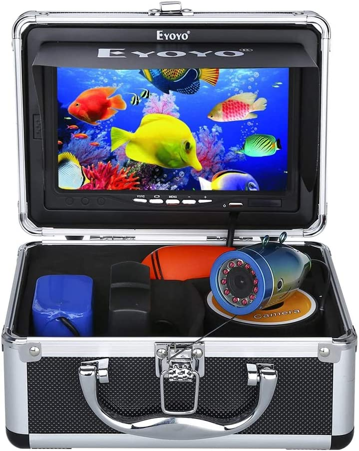 best underwater fishing camera: Eyoyo Portable 7 inch Underwater 1000TVL Fishing Camera