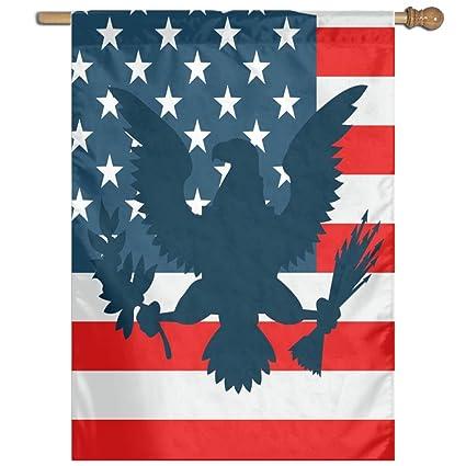 Amazon com: Alin-Z Shadow Eagle In Us Flag Garden Flag