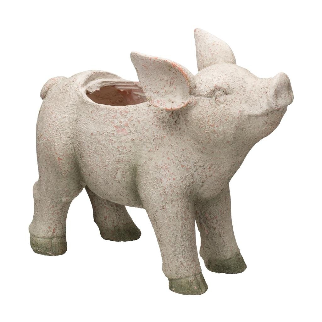 Regal Art & Gift Pig 17.5 inches x 7 inches x 14 inches Magnesium Oxide Planter - Outdoor Home Decor