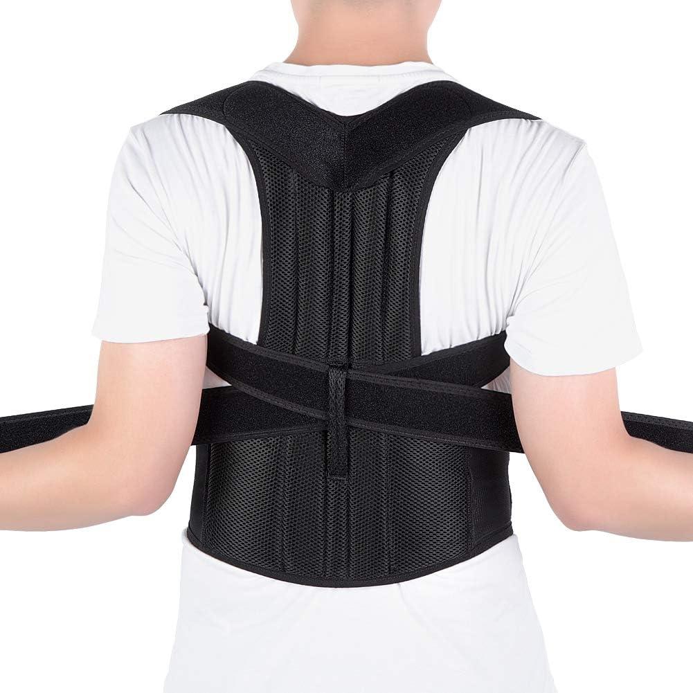 Corrector de Postura Espalda, Ajustables Apoyo de Espalda, Enderezador de Espalda, Cinturón Corrección de Postura para Hombres y Mujeres, Aliviar el dolor de Espalda y Hombro (XXL(117-130cm))