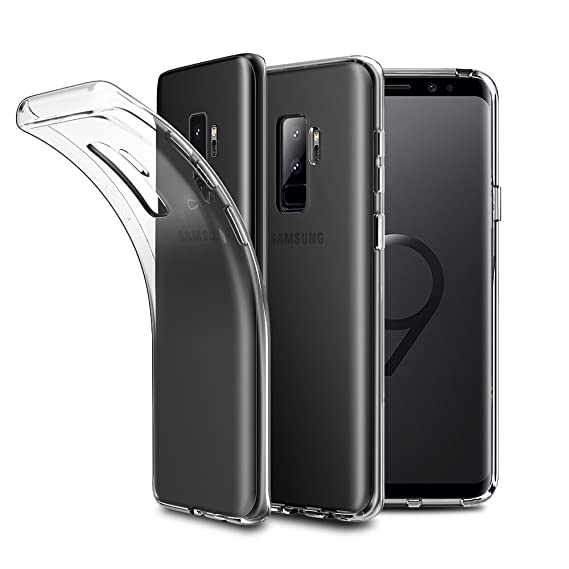 new concept d6ea1 a2c68 EasyAcc Slim Case for Samsung Galaxy S9 Plus, Soft TPU Crystal Clear Phone  Case Transparent Anti Slip Back Protective Cover Shockproof Compatible with  ...