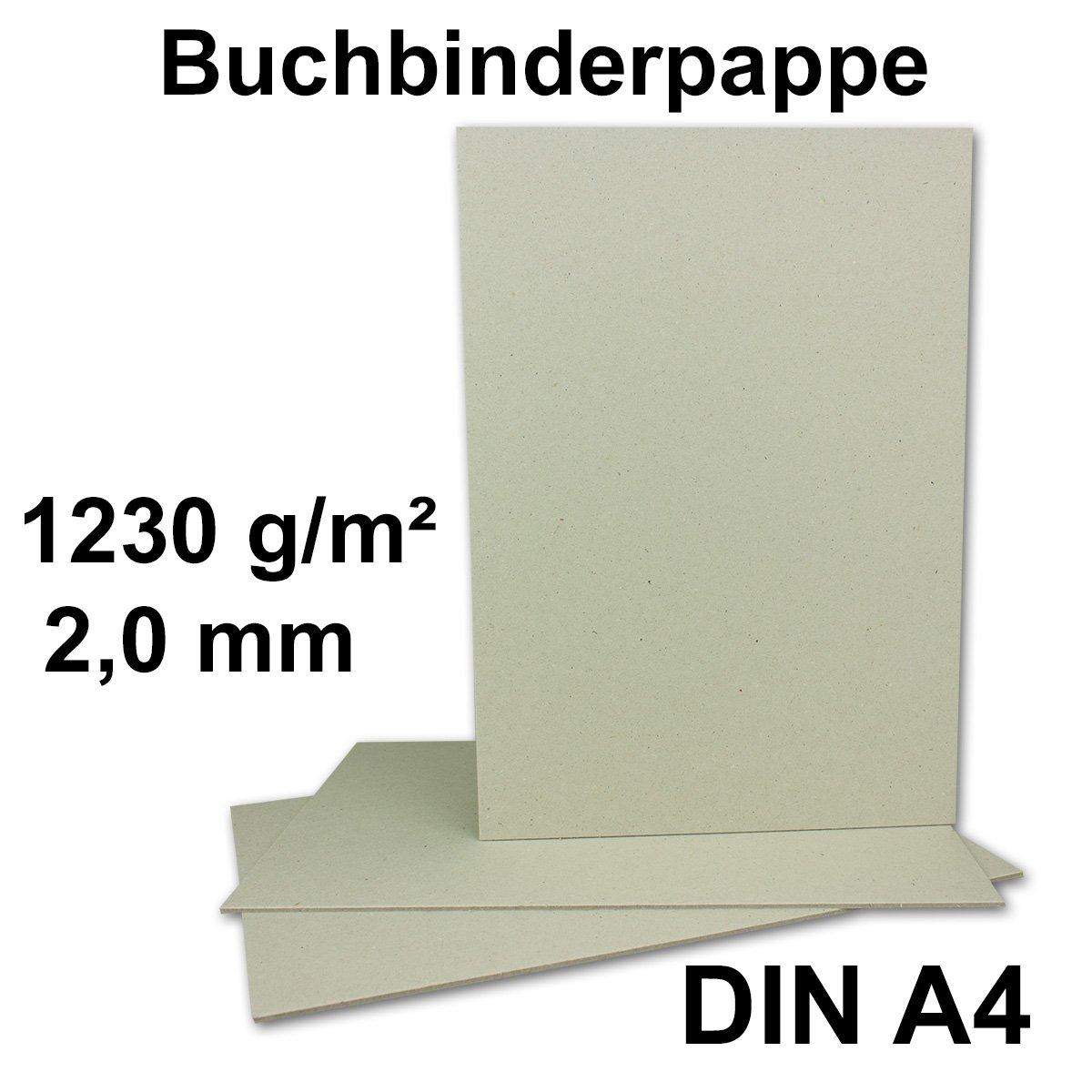 Libro Binder cart/ón DIN A4, grosor de 2/mm, gramaje: 1230/g//m/², formato: 29,7/x 21/cm color gris y marr/ón