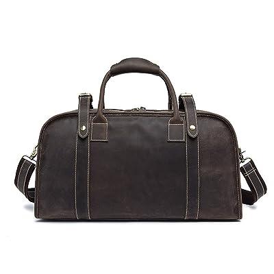 Duffle Vecchio Brown genuine Leather Weekender Travel Bag