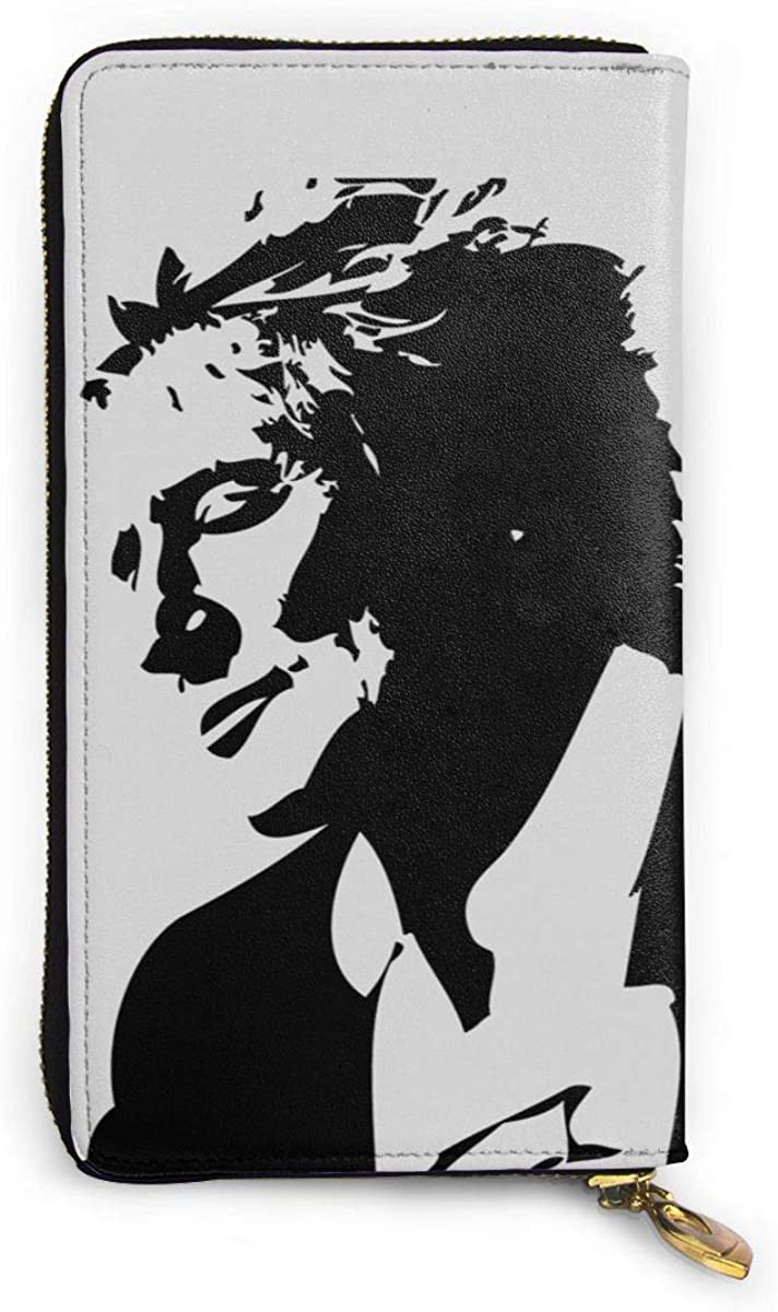 Rod Stewart Leather Wallet, Printed Wallet Black