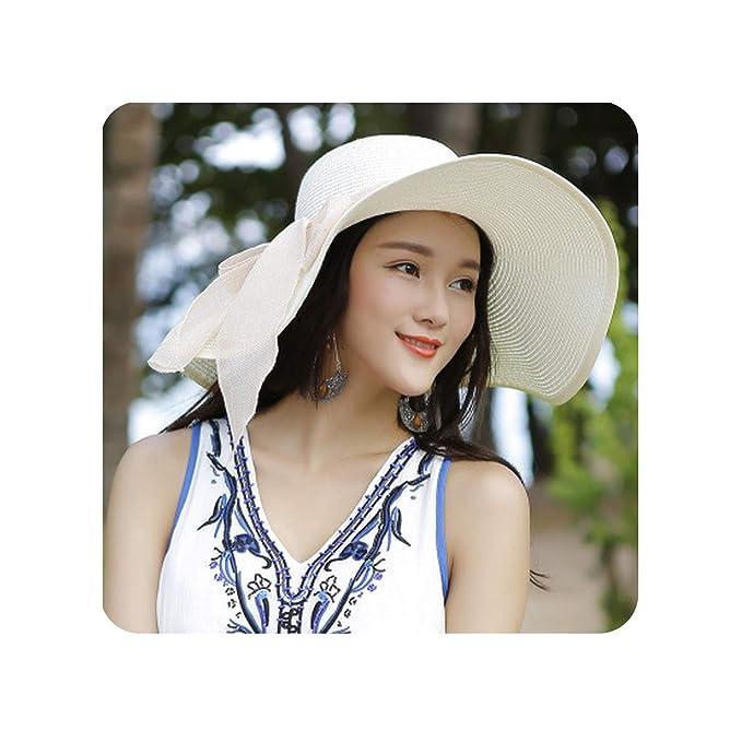 8ac4b821e5590 Amazon.com: Large Brim Floppy Floppy Hat Sun Hat Beach Women Hat ...