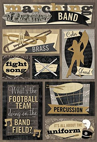 Karen foster design acid and lignin free scrapbooking sticker sheet marching band