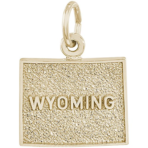 (Rembrandt Charms 14K Yellow Gold Wyoming Charm (12.5 x 15 mm))