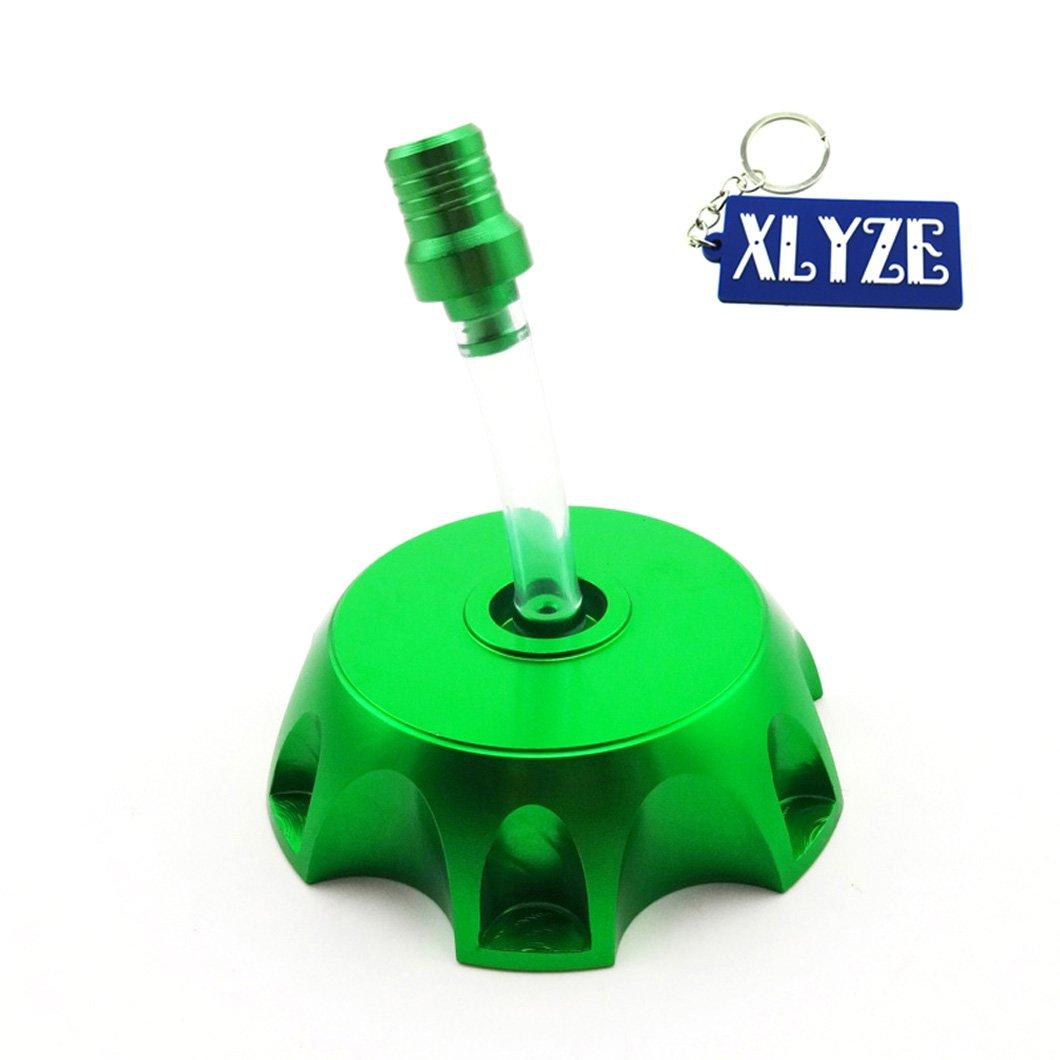 xlyze-Abdeckung Deckel aus Aluminium gr/ün f/ür chinesische Benzin Kraftstoff Tank 50/cc 90/cc 110/cc 125/cc 150/cc 160/cc Pit Dirt Bikes