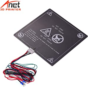 Aibecy Anet 3D Printer Hot Bed Base Plate Heating Platform Heatbed Aluminum Plate Size 220 220 3mm with Cable Hot-Bed Wire for Anet A8 A6 A2 TRONXY P802M 3D Printer Upgrade Suppliers 12V(1pcs)