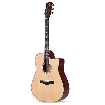 huanle Guitarra eléctrica de una Sola Tabla de 41 Pulgadas de luz, Guitarra acústica,