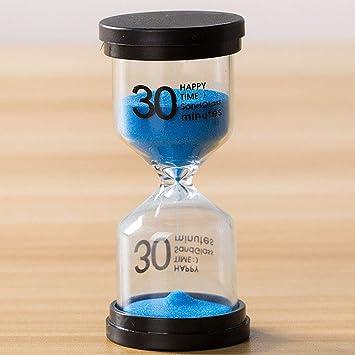 SDYDAY 5/10/15/30 Minuten Sanduhr Küche Kochen Sanduhr Kinder Bürste Zähne Countdown Sandglas Timer Uhr Desktop Dekoration, B