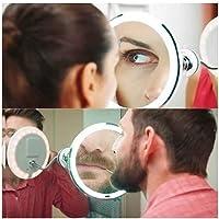 Espelho Banheiro Quarto Salão LED Flexível 360° Maquiagem10x