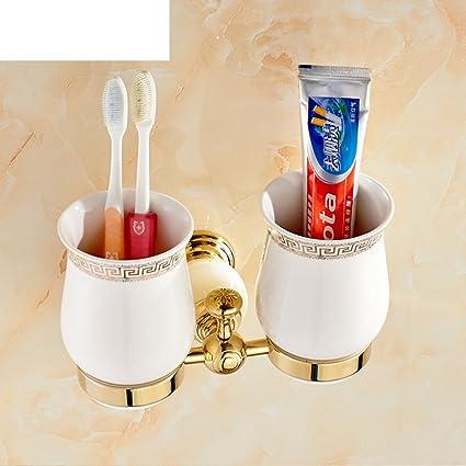 HCP Todos los cepillos de dientes de cobre/portavasos doble cepillo de dientes de hardware