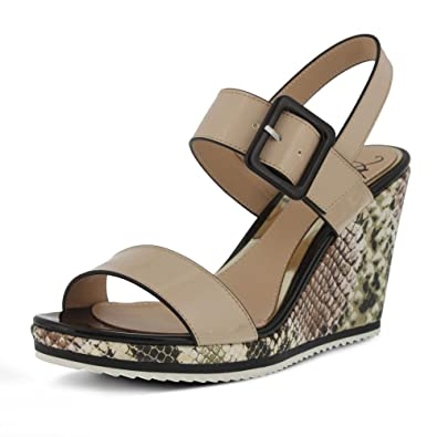 Amazon.com | Azura by Spring Step Women's nzuri Wedge Sandal, Beige Multi,  41 EU/9.5-10 M US | Platforms & Wedges
