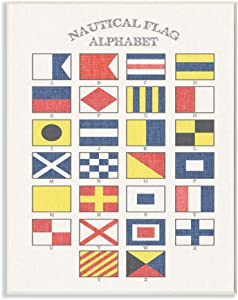 Stupell Industries Nautical Flag Alphabet Wall Plaque, 10 x 15, Design by Artist Daphne Polselli