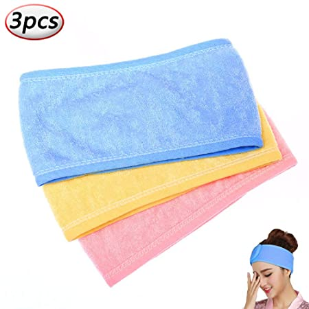 EUYOUZI SPA Facial Headband,Makeup Wrap Head Terry Cloth ...