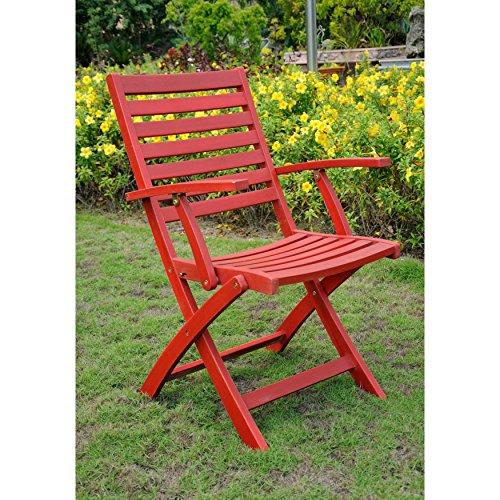 UPC 700493932603, International Caravan Acacia Folding Ladder Back Armchairs (Set of 2) Brown