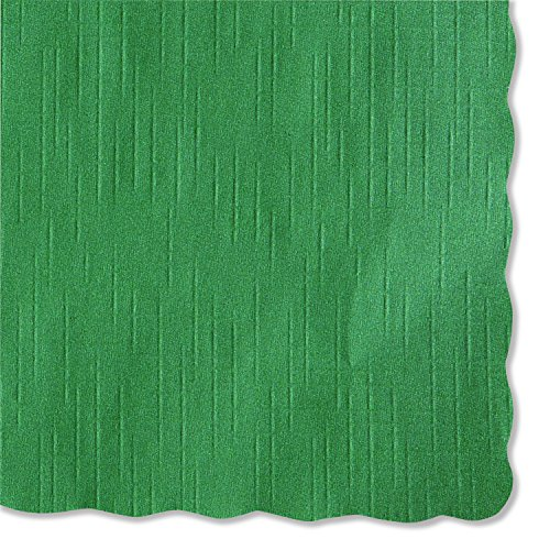 Paper Hunter Placemat (Hoffmaster 310528 Solid Color Scalloped Edge Placemats, 9 1/2 x 13 1/2, Hunter Green (Case of 1000))