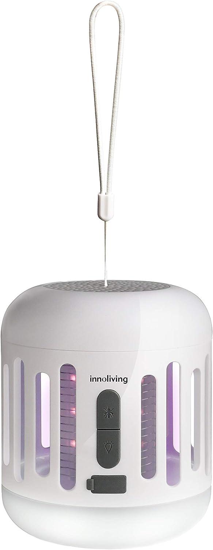 Plastica Innoliving INN191 Lampada antizanzare Ricaricabile con Luce Notturna INN-195