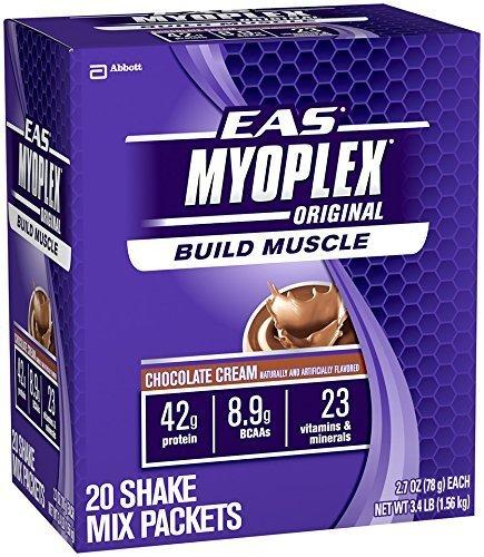 Eas 20 Packet - EAS Chocolate Cream Myo Plex Original Shake Mix Packets - Pack of 20 by EAS