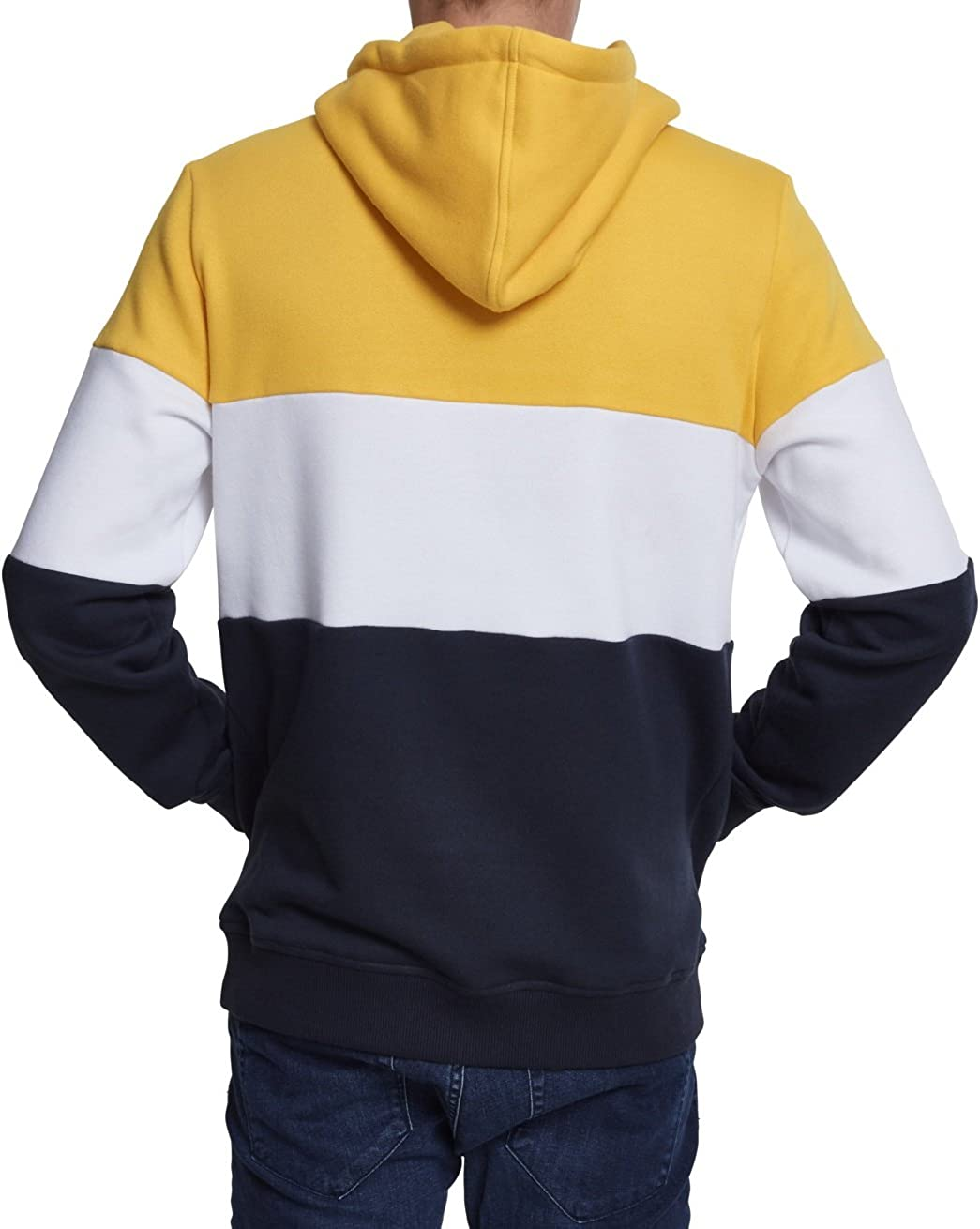 Urban Classics Herren Kapuzenpullover Mehrfarbig (Chrome Yellow/White/Navy 01233)