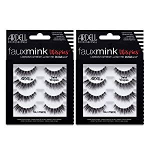 Ardell False Lashes Faux Mink Demi Wispies Multipack, 2 pk x 4 pairs