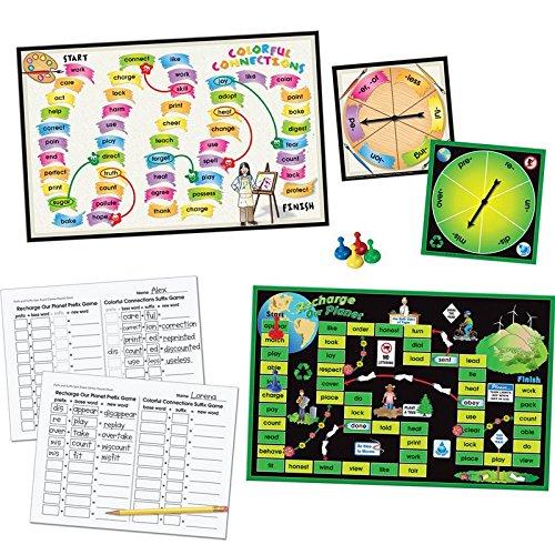 Really Good Stuff Prefix & Suffix Spin Board Games
