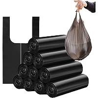 Trash Bags 4 Gallon Handle-Tie Small Trash Bag 100 pcs (Black)