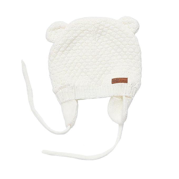 Boomly Invernali Caldi Morbidi Cappello in Lana a Maglia di Cotone  Protezione Orecchio Berretto Beanie Cuffia Berretto Beanie Hat per Bambini  Neonato  ... 8cdc6cc45f6c