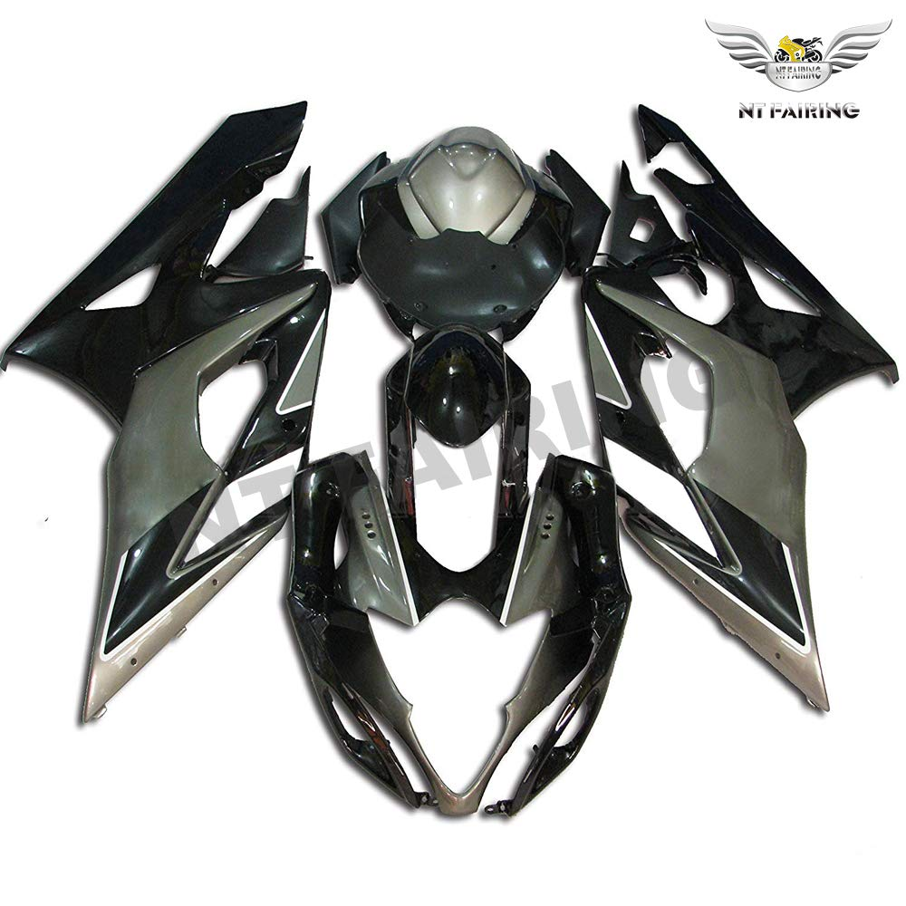NT FAIRING Black White Injection Mold Fairing kits Fit for Suzuki 2005 2006 GSXR 1000 K5 05 06 GSX-R1000 Aftermarket Painted ABS Plastic Motorcycle Bodywork