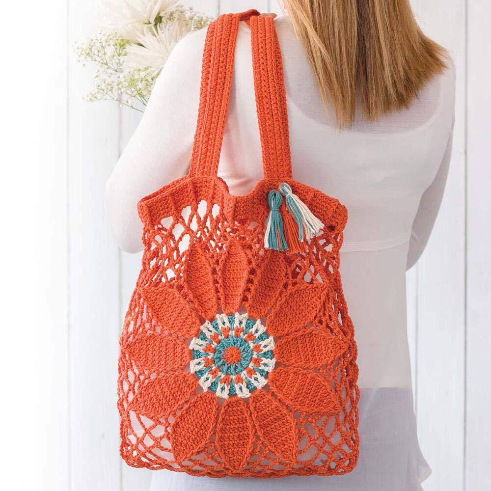 Lion Brand Flower Market Bag Crochet Yarn Kit